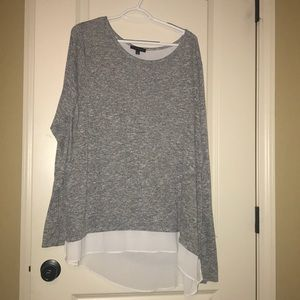 Lane Bryant zipper back lined top